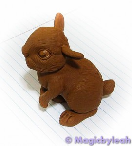 Brown Bunny Sculpture baked