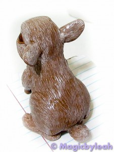 Brown Bunny Sculpture first paint coat rear