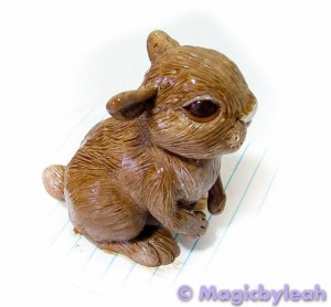 Brown Bunny Sculpture second painting 2