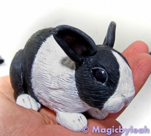 Polymer Clay Dutch Bunny 4