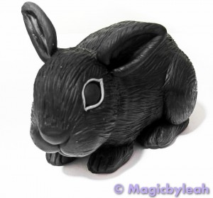 Polymer Clay Dutch Bunny baked front