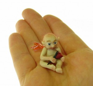 Micro Miniature Fairy Baby with RoseBud