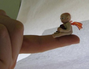 Mothers Day micro fairy on fingertip