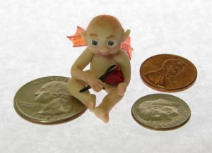 Mothers Day micro fairy with US coins