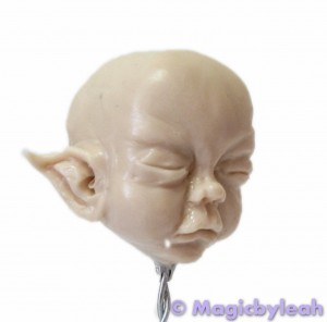 July Fairy Part 2 Sculpting Facial Features and Ears