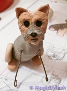 Bodewell the Yorkie front paw armature