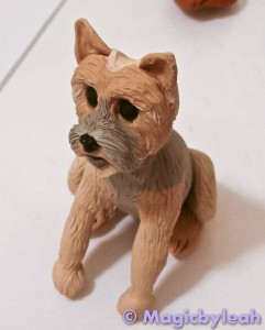 Bodewell the Yorkie sculpted and textured