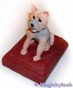 Bodewell the yorkie polymer clay baked front l
