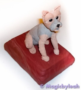 Bodewell the yorkie polymer clay baked front r