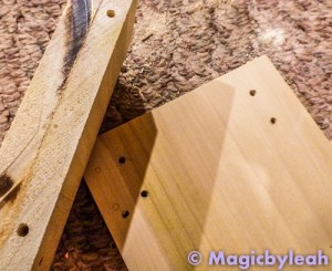 Fairy Door Bookend holes ready