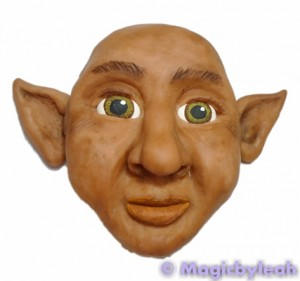 Painting polymer clay reference face 2