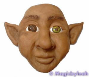 Painting polymer clay reference face iris