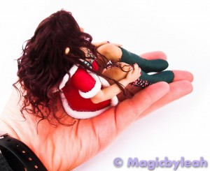 Polymer Clay Christmas Elf hand back