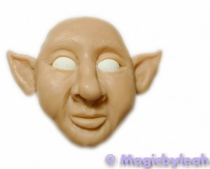 polymer clay reference face