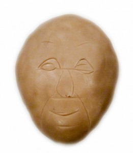 polymer clay reference face drawn facial features