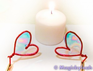 Sleepy Valentine Goblin Fairy Wings heating with candle