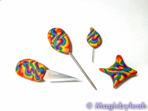 Polymer Clay Rainbow Sculpting Tools