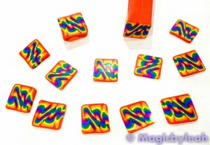 Polymer Clay Rainbow Sculpting Tools cane slices