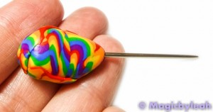 Polymer Clay Rainbow Sculpting Tools covered tapestry needle