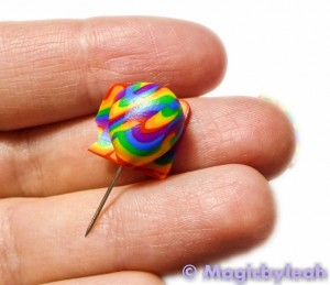 Polymer Clay Rainbow Sculpting Tools covering pin
