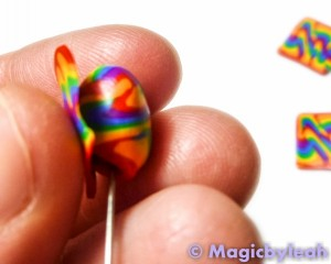 Polymer Clay Rainbow Sculpting Tools covering tapestry needle