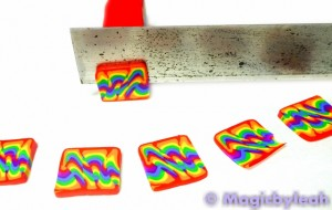Polymer Clay Rainbow Sculpting Tools slicing cane