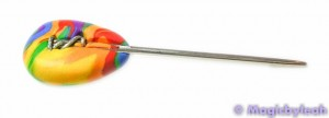 Polymer Clay Rainbow Sculpting Tools tapestry needle in clay