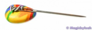Polymer Clay Rainbow Sculpting Tools tapestry needle on clay
