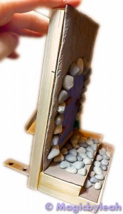 Fairy Door Bookend side view of clay on wood