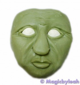 Practicing Polymer clay Faces green man winter complete
