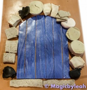 fairy door polymer clay measuring rocks