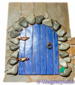 fairy door polymer clay scraps for background