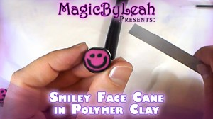 Smiley Face Cane in Polymer Clay Tutorial