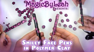 covering a pen with polymer clay cane slices magicbyleah