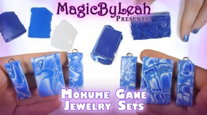 Polymer Clay Mokume Gane Earrings and Pendant Video