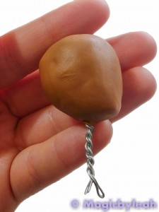 Polymer Clay Baby Head covered armature