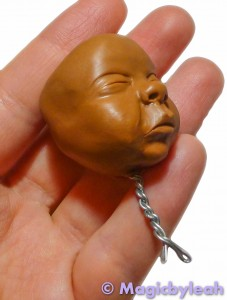 Polymer Clay Baby Head right side