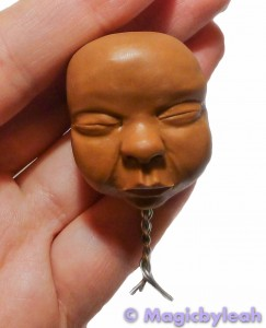 Polymer Clay Baby Head upper view