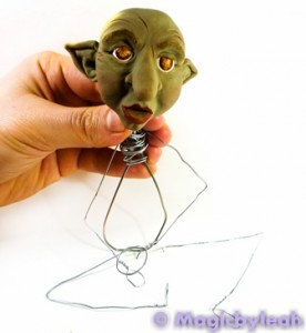 Polymer Clay Female Troll armature pose