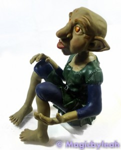 Polymer Clay Female Troll clothed left