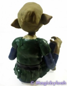 Polymer Clay Female Troll clothed rear