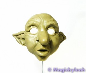 Polymer Clay Female Troll face with ears
