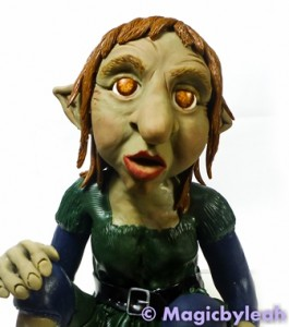 Polymer Clay Female Troll hair