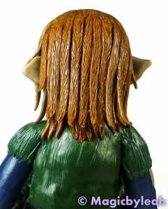 Polymer Clay Female Troll hair back