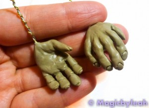 Polymer Clay Female Troll hands