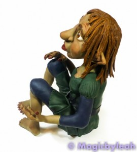 Polymer Clay Female Troll left