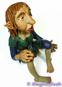 Polymer Clay Female Troll side