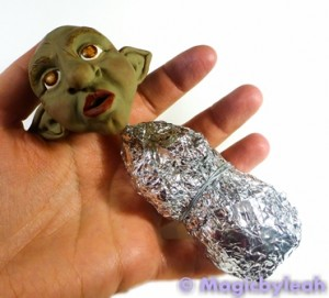 Polymer Clay Female Troll torso armature