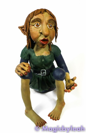 Polymer Clay Female Troll