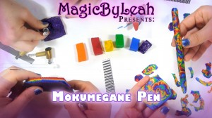 Mokume Gane Polymer Clay Rainbow Pen Tutorial Video